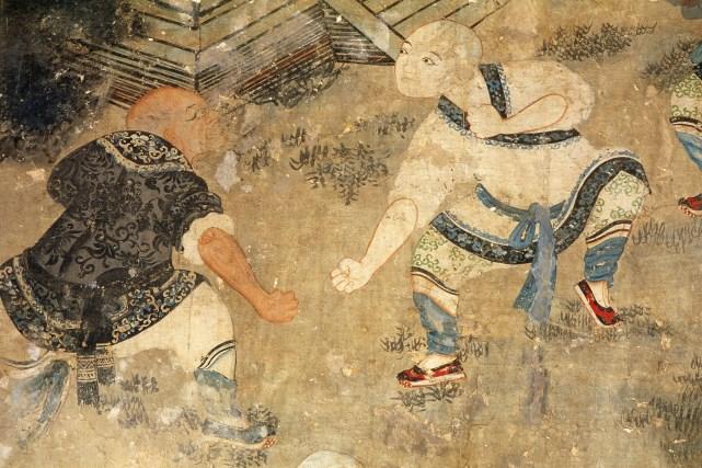 Dinastia Qing Pintura Shaolin