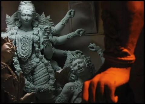 Un idolo Durga altamente dettagliato