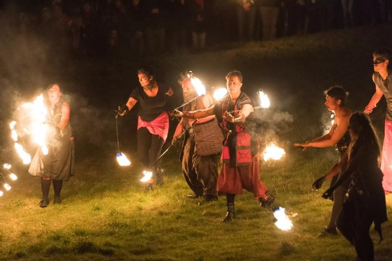 Le festival annuel Beltane à Calton Hill, Edimbourg