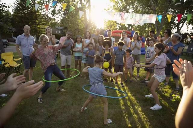 Familie distracție în aer liber