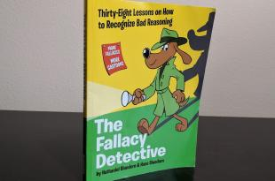 The Fallacy Detective, book standing up with the cover facing out