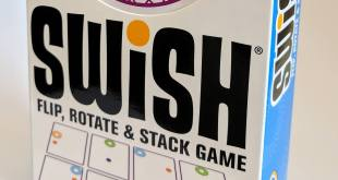 Front of the Swish box showing an up close view of the Swish logo