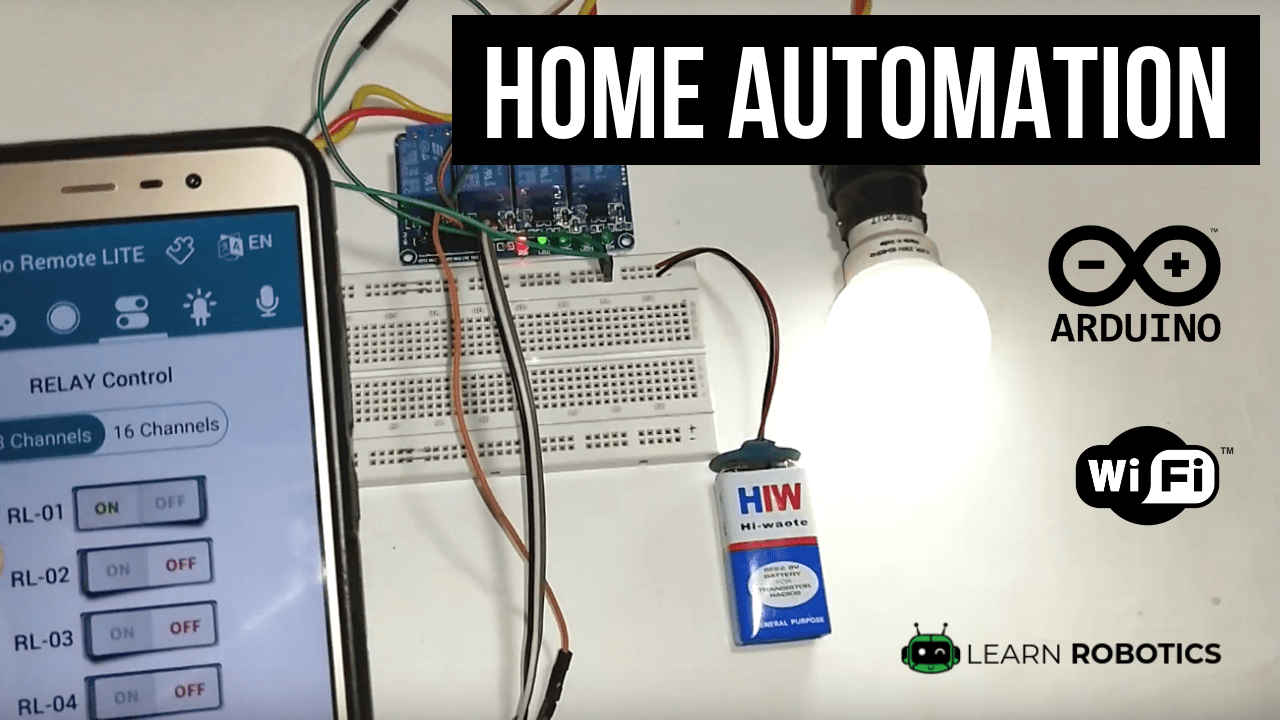 Home Automation using Arduino and WiFi
