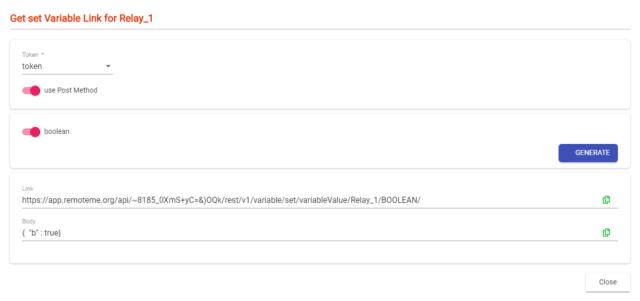 generate link webhook IFTTT