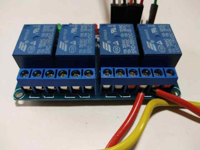 connect relays home automation