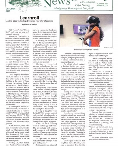 "MontyNews w - Learnroll Immerse featured in ""The Montgomery News"""