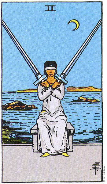 Image result for swords 2 tarot