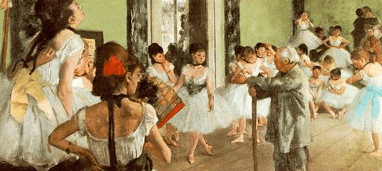Edgar Degas, The Dance Class, 1874. Oil on canvas, Metropolitan Museum of Art