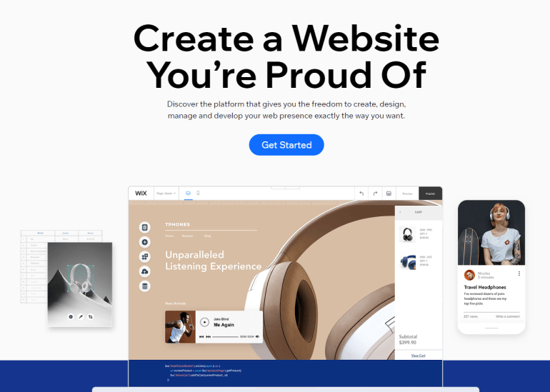 blogging platform Wix