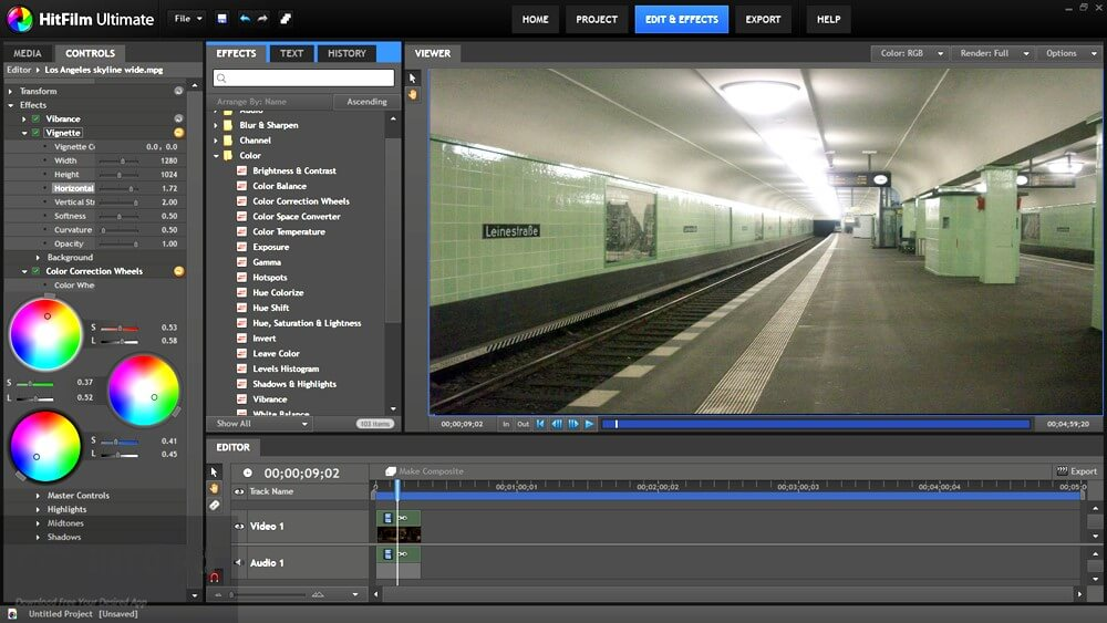 Hitfilm Express Screenshot