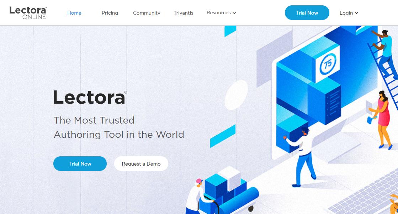 A screenshot showing a part of Lectora's website.