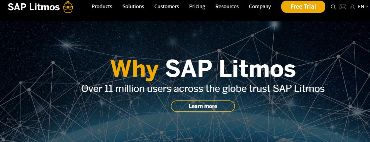 A screenshot showing a part of SAP Litmos website.