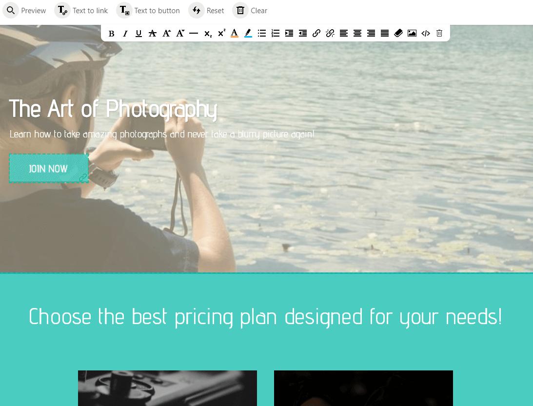 art of photography online school example screenshot
