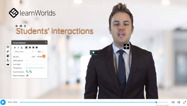 How I used Learnworlds' interactive video player to guide viewers' attention