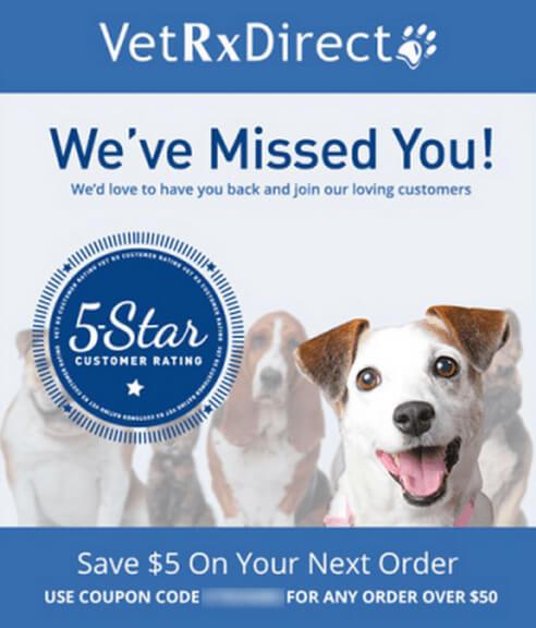 VetRxDirect cheesy email example