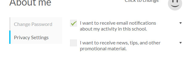 Email opt-in options