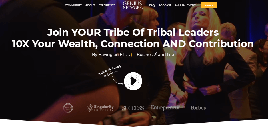 Tribal leaders membership landing page