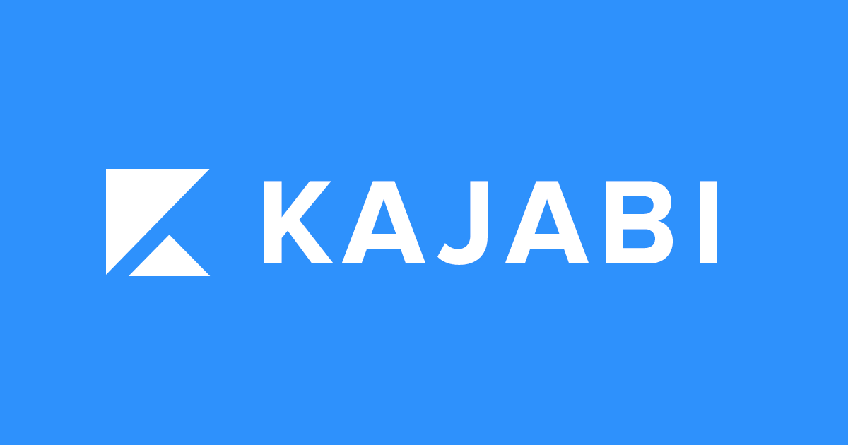 a screenshot of kajabi logo