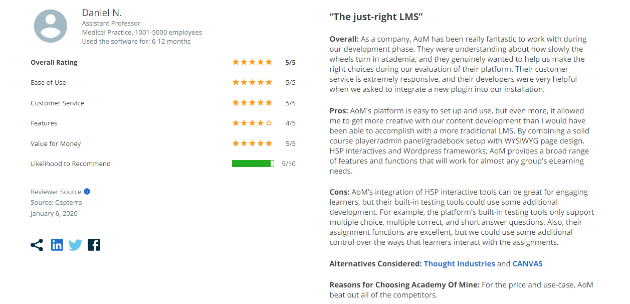 Academy of Mine review on Capterra