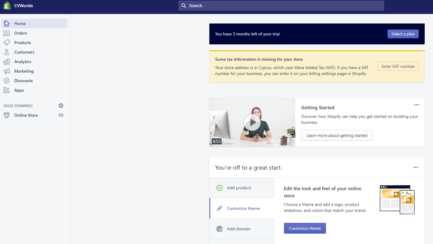 Connect your website on shopify