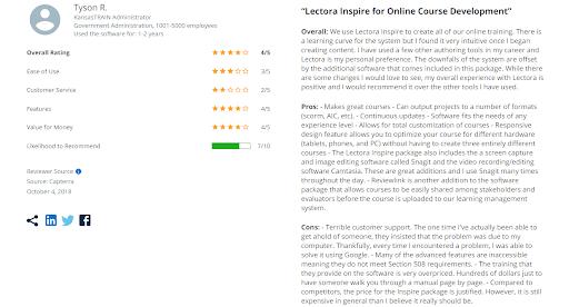 Lectora Inspire reviews 1
