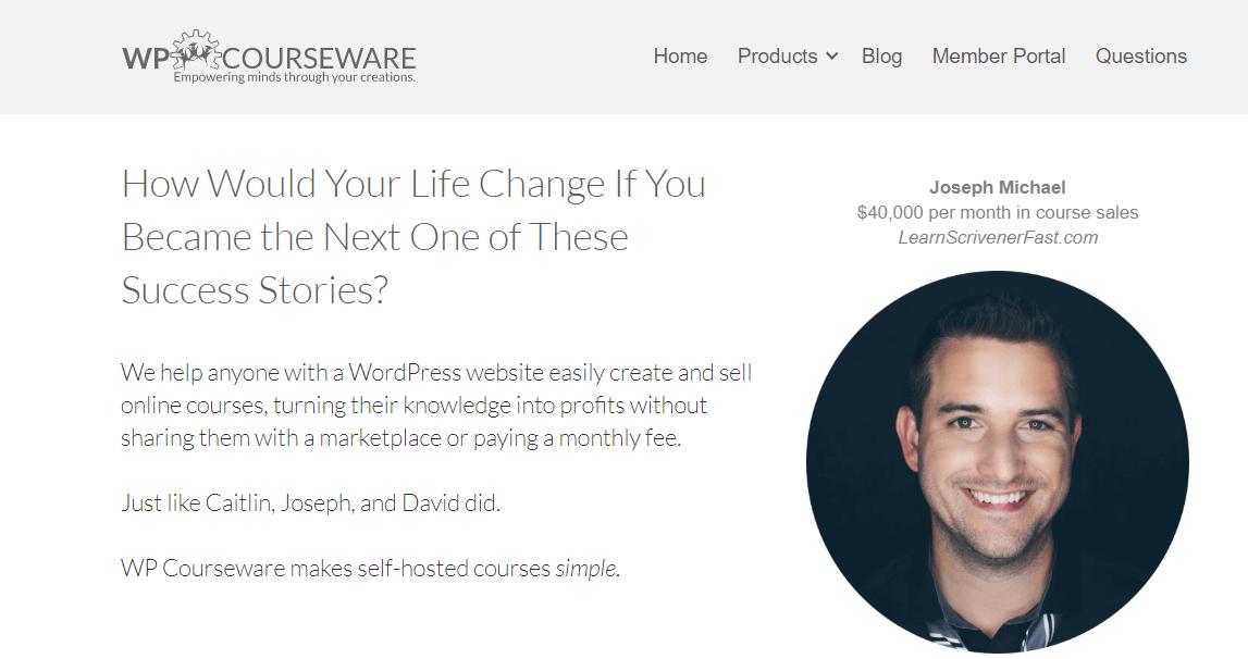 WP Courseware screenshot