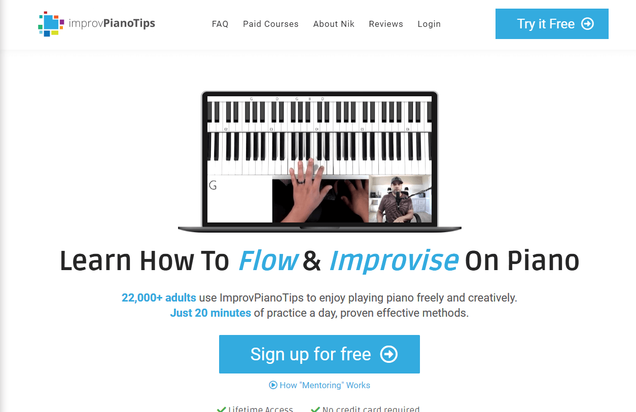 Improv Piano Tips home page