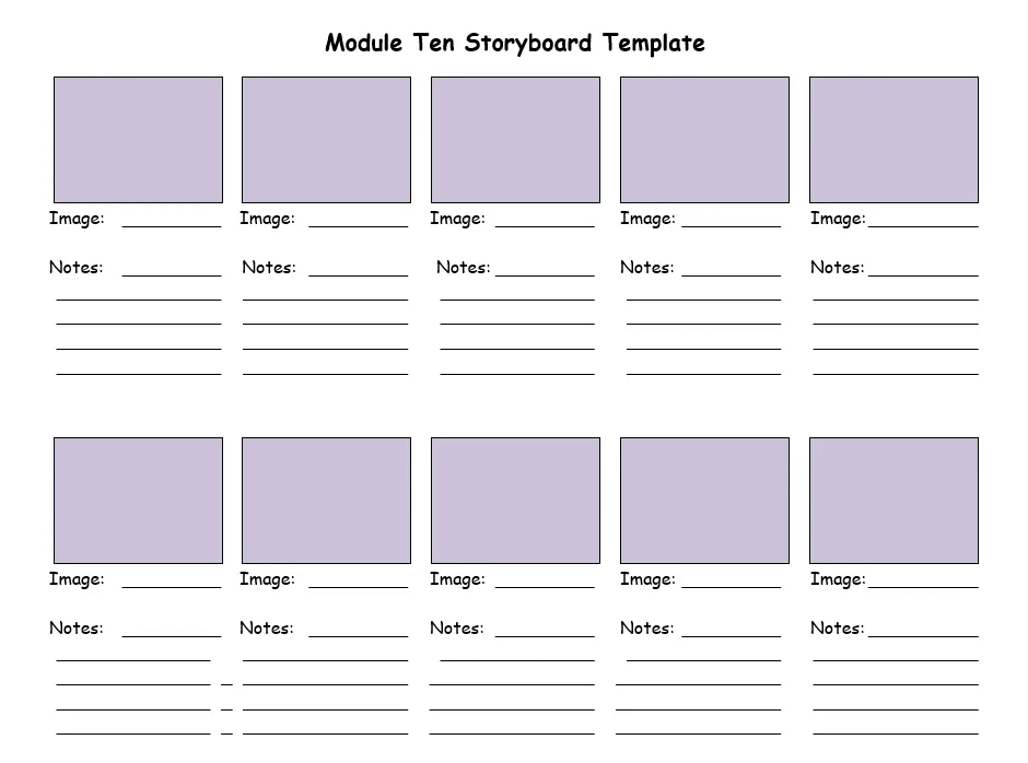 Story board example