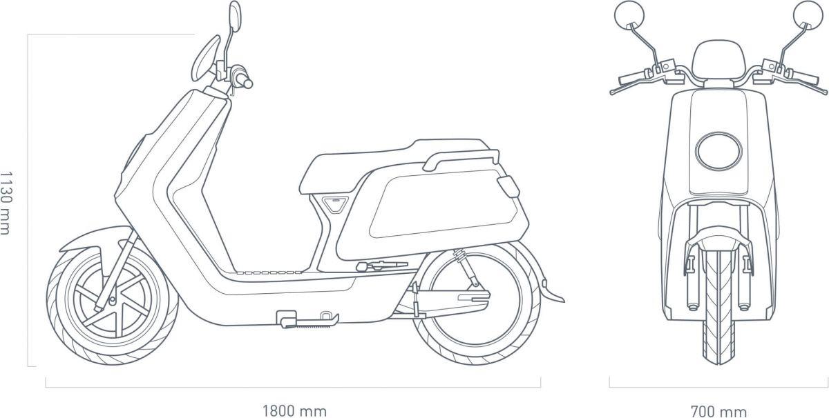 NIU N1s Blauw scooters leasen? NIU N1s Blauw scooterlease