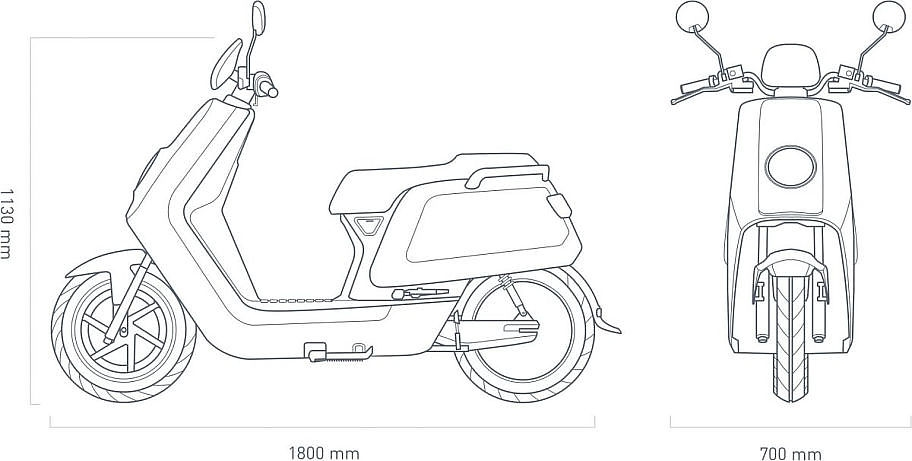 NIU NQi Sport 35ah Blauw scooters leasen? NIU NQi Sport
