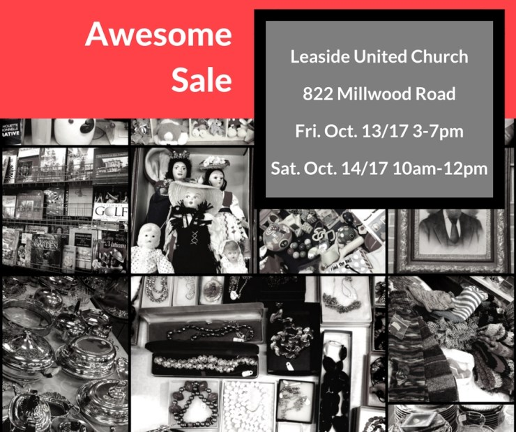 This Week!!  The Awesome Sale comes to Leaside United Church!!