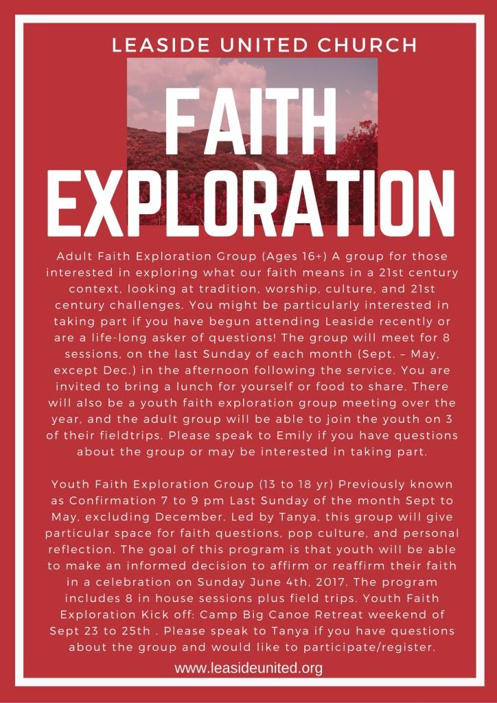 Faith Exploration