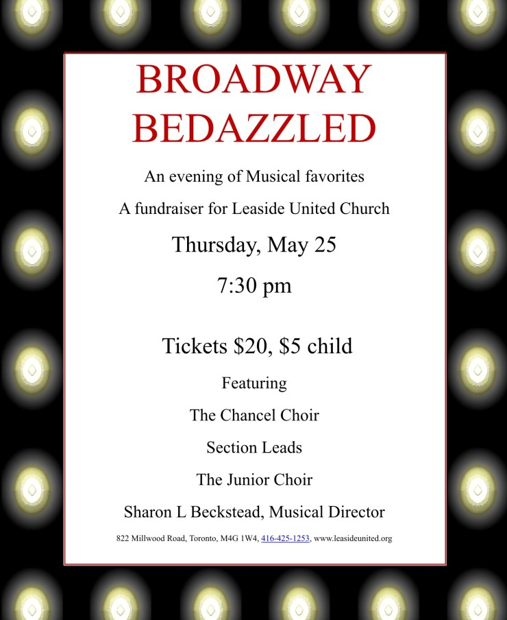 Broadway Bedazzled Fundraiser