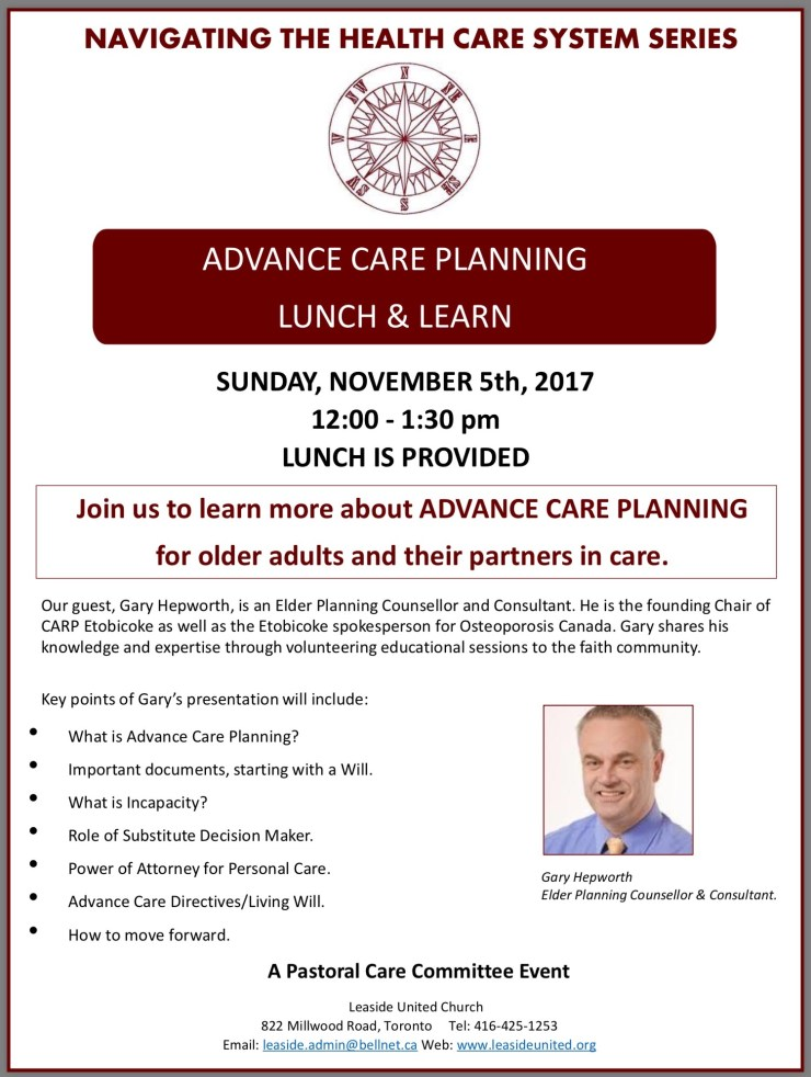 Lunch & Learn – Advance Care Planning