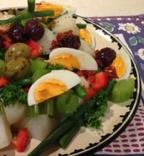 Hot vege salad 1