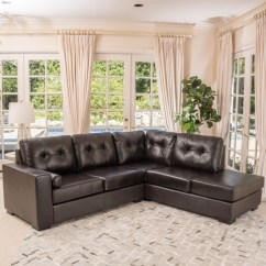 2 Piece Brown Leather Sofa Bauhaus Microfiber Cleaning Christopher Knight Home Elisa Sectional
