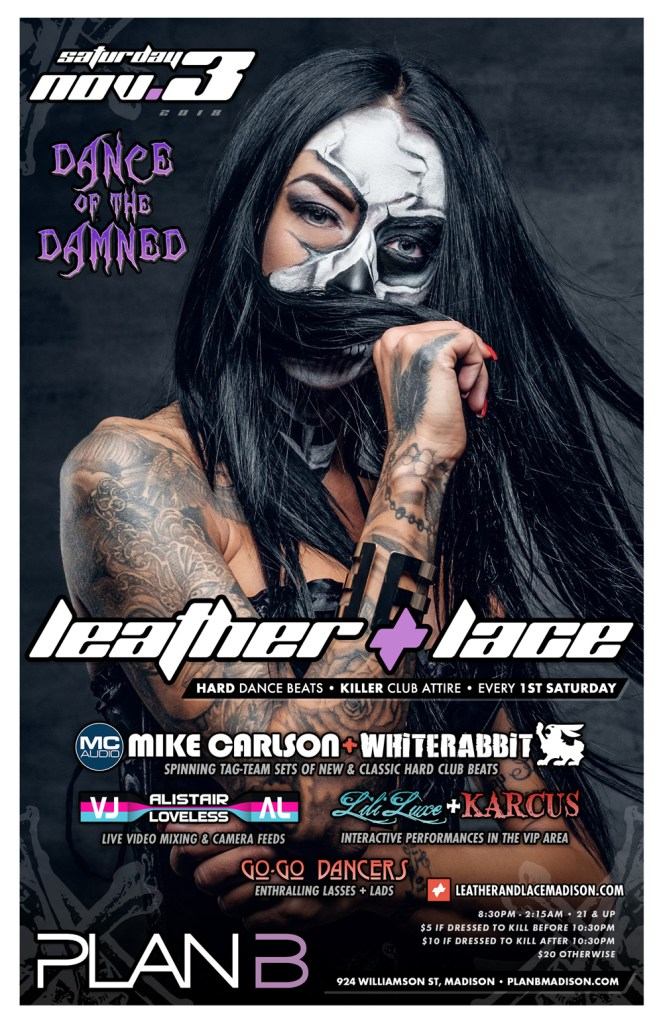 Leather + Lace: Dance of the Damned – November 3rd, 2018