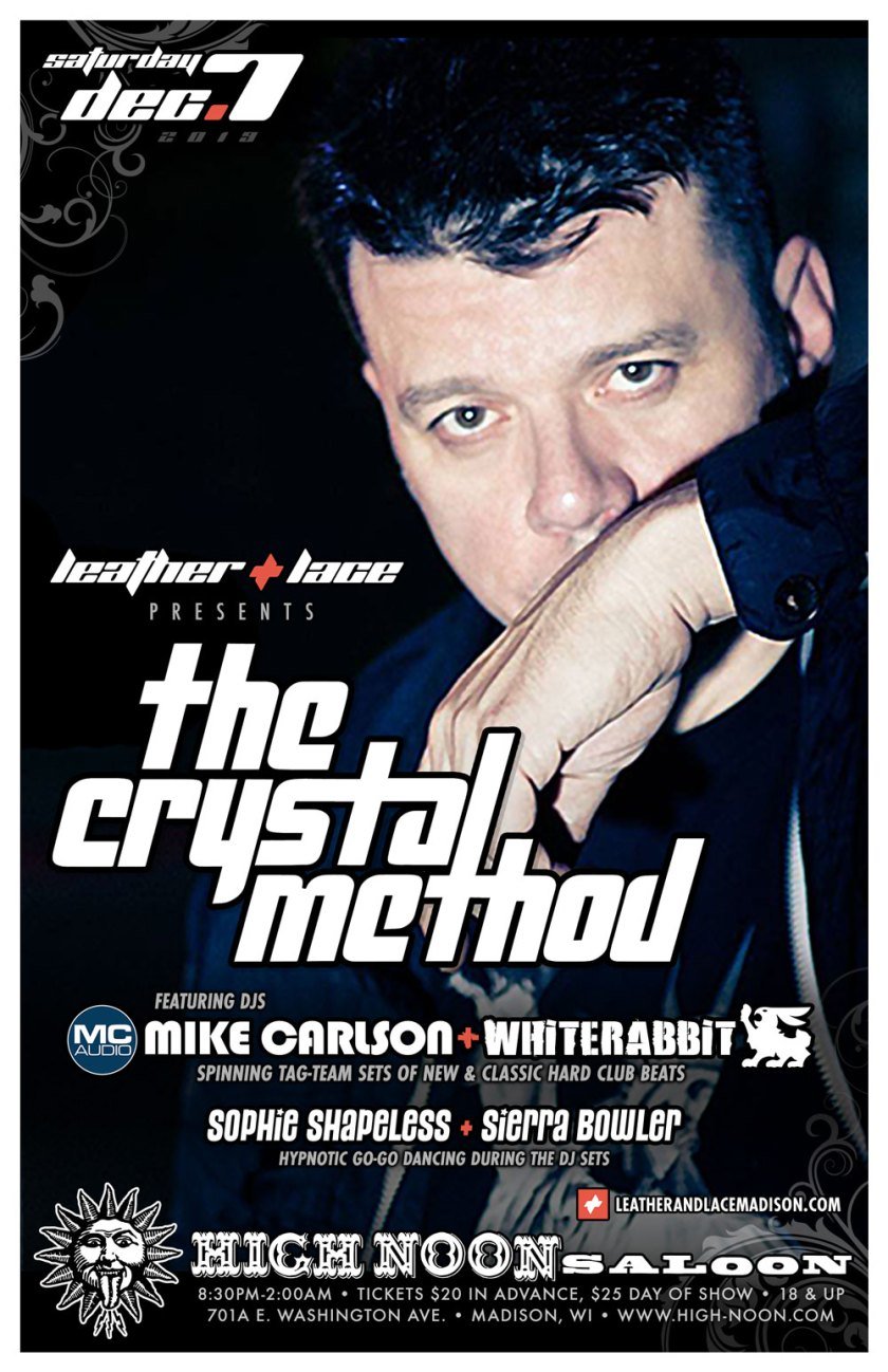 L+L presents The Crystal Method – December 7th, 2019
