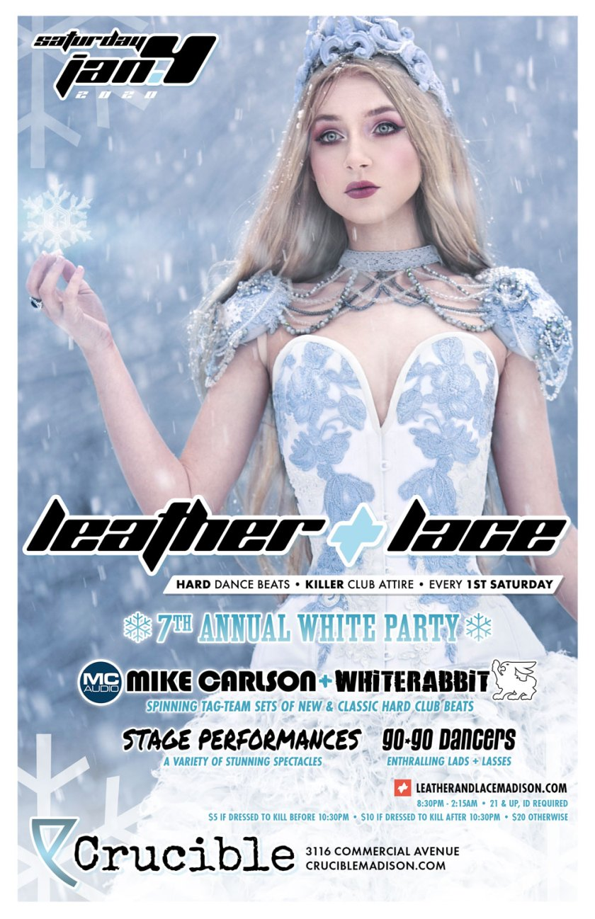 Leather + Lace: 7th-Annual White Party – January 4th, 2020