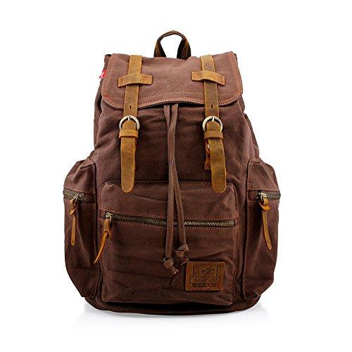 New Vintage Canvas Outdoor Military Backpack Travel Camping School Shoulder Bag
