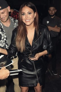 Cassie Scerbo Greets Fans Hard Rock Hotel - Leather