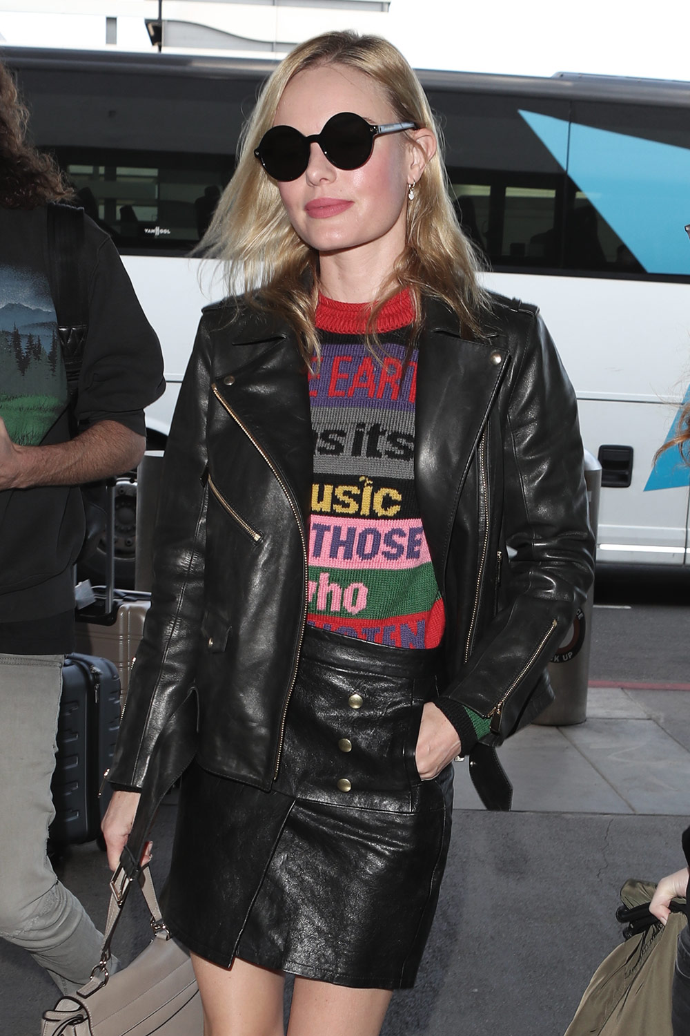 Kate Bosworth Seen At Jfk Airport Leather Celebrities