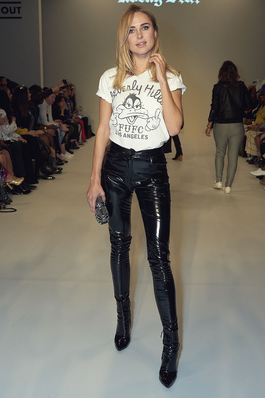 Gothic Girl Wallpaper Kimberley Garner Attends Rocky Star Catwalk Leather