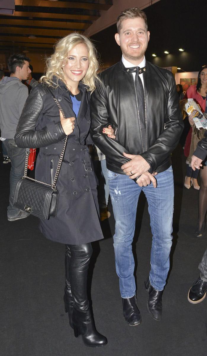 Luisana Lopilato arrives at the David Delfin Fashion Show