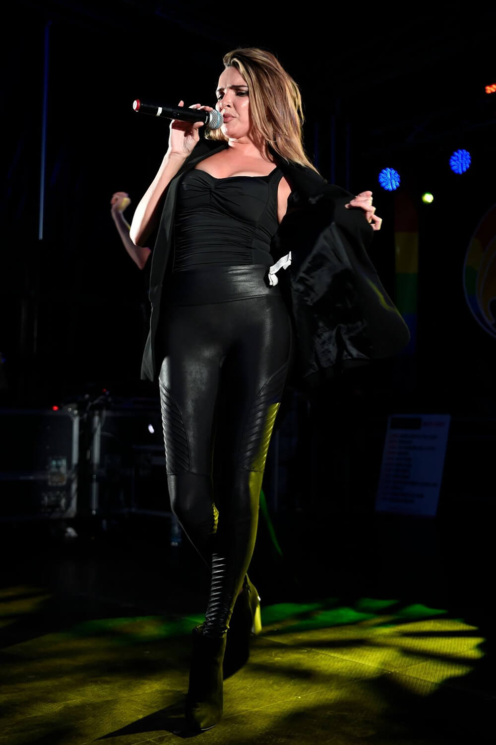 Nadine Coyle Performing At Chester Pride Leather Celebrities