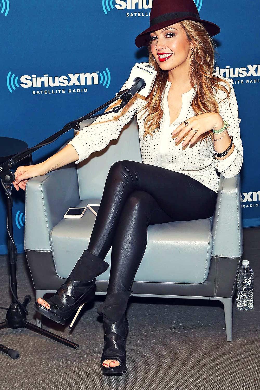Thalia Visits The Siriusxm Studios For Siriusxm S Iconos