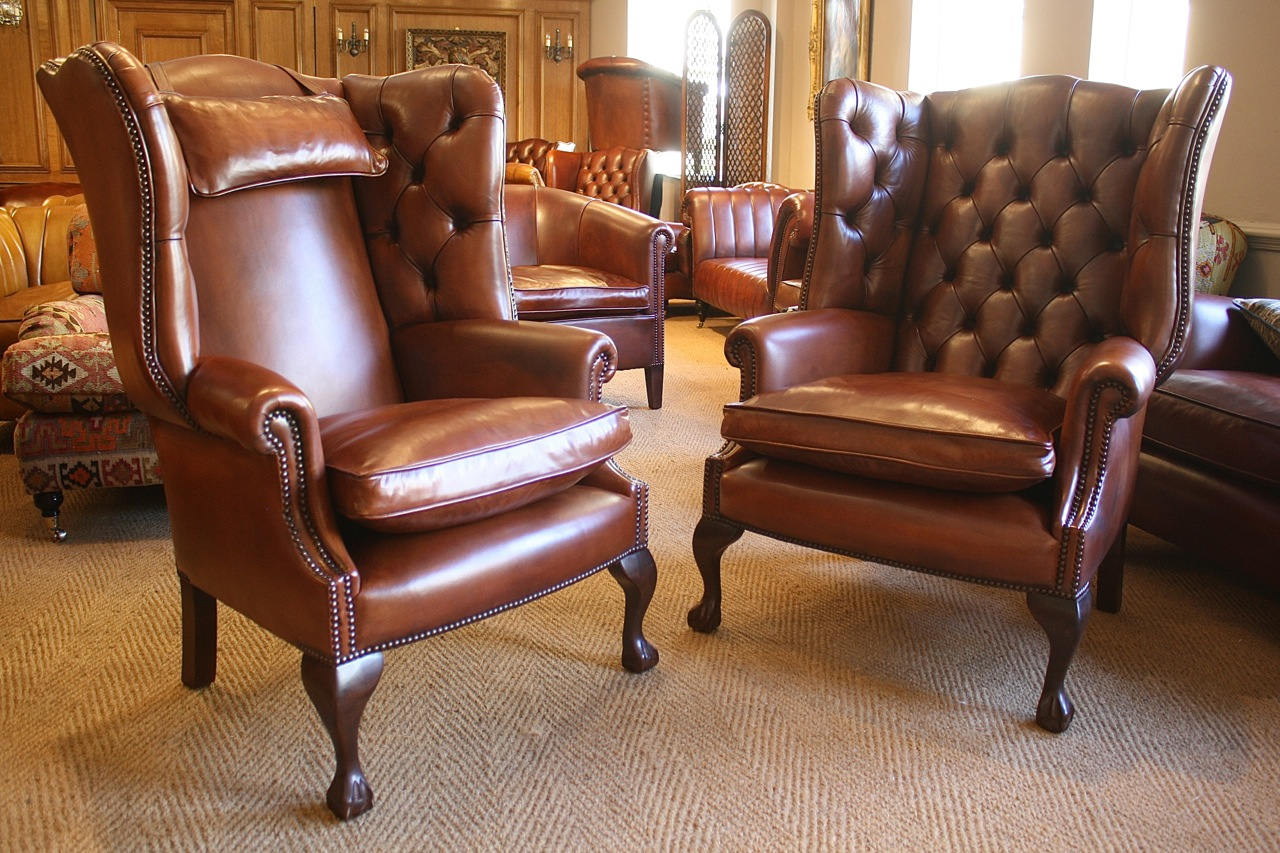 leather wing chair uk folding chairs with side table of bath sofas