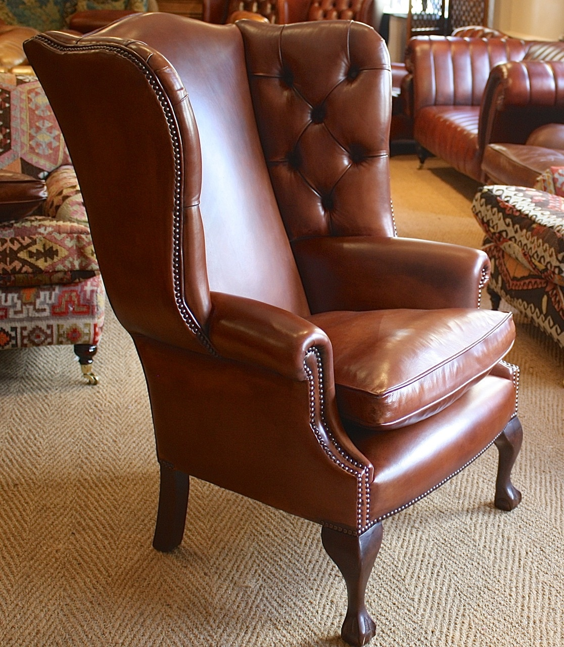 leather chairs of bath for showers bespoke pair georgian