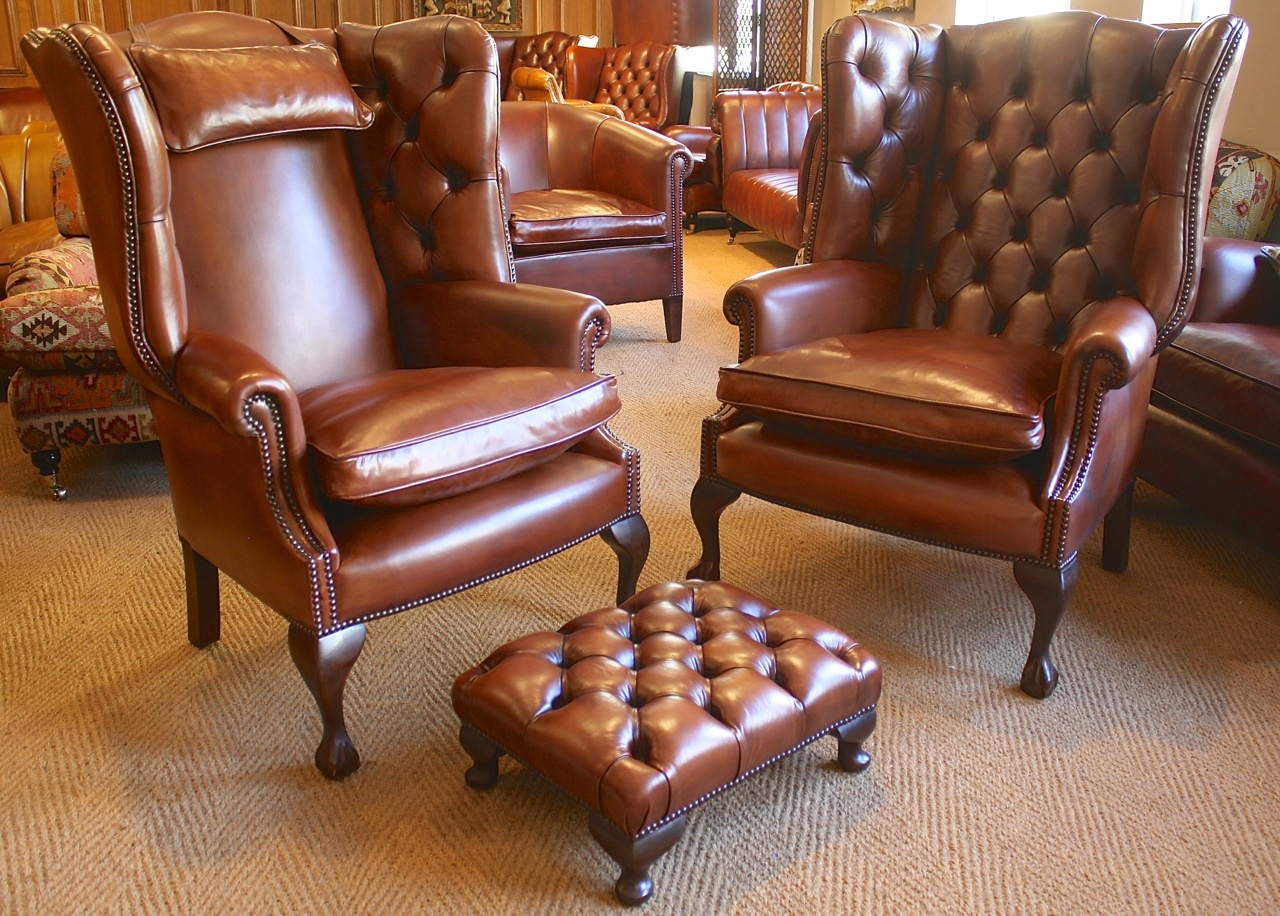leather chairs of bath london memory foam desk chair cushion bespoke pair georgian