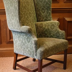 Queen Anne Wing Chair Farmhouse Style Chairs Leather Of Bath Antique Chelsea Design Quarter London | ...